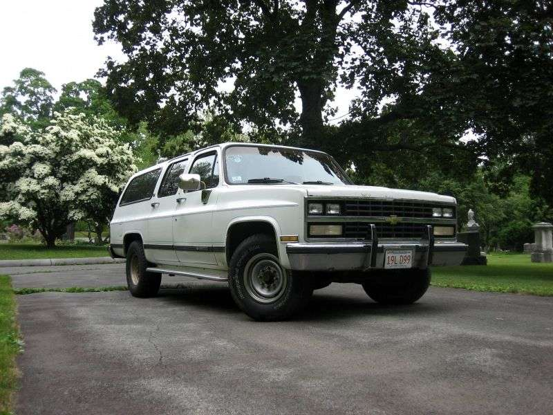 Chevrolet Suburban 8th generation [2nd restyling] SUV 6.2D V20 3AT 4WD (1989–1989)