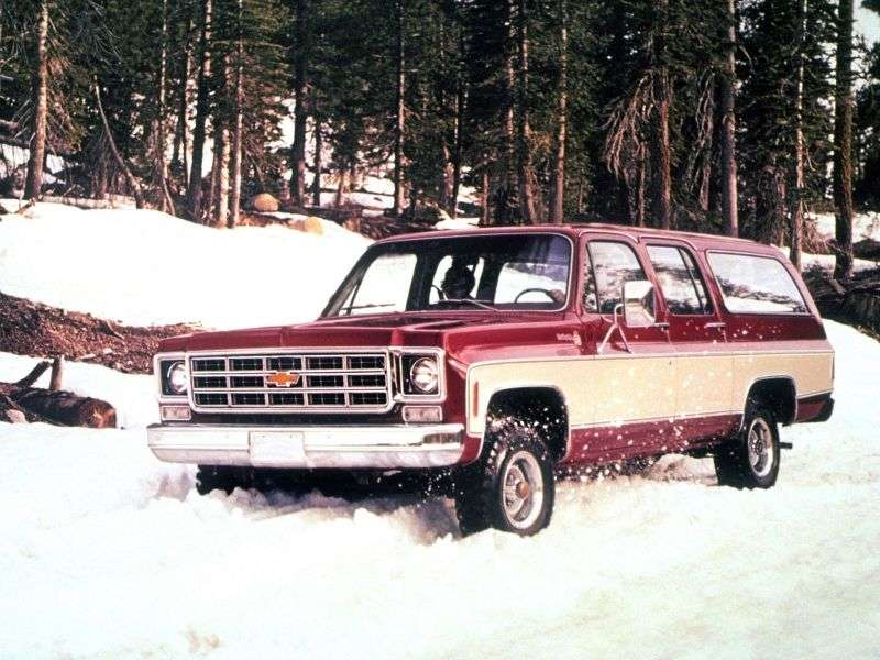 Chevrolet Suburban 8th generation SUV 5.7 K20 AT Turbo Hydra Matic 4WD (1973–1973)
