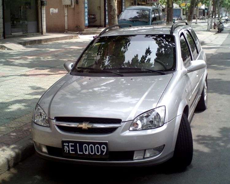 Chevrolet Sail 1st generation 1.6 MT wagon (2005–2009)