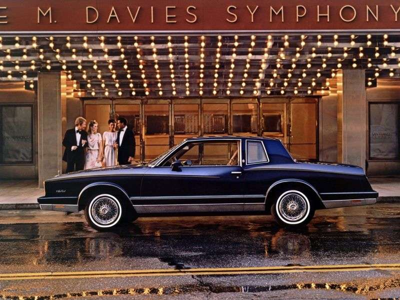 Chevrolet Monte Carlo 4th generation [restyling] coupe 4.4 AT (1982–1982)