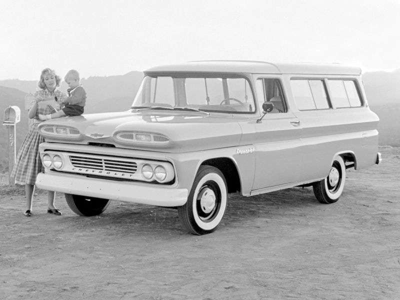 Chevrolet Suburban 6th generation SUV 3.9 AT Powerglide (1960–1962)