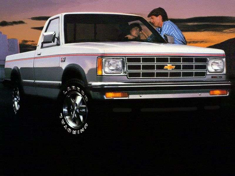 Chevrolet S 10 1st generation Regular Cab pickup 2 bit. 2.5 4AT (1985–1990)