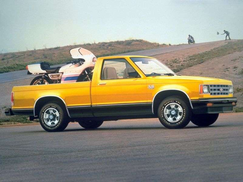 Chevrolet S 10 1st generation Regular Cab pickup 2 bit. 4.3 4AT 4WD (1988–1993)
