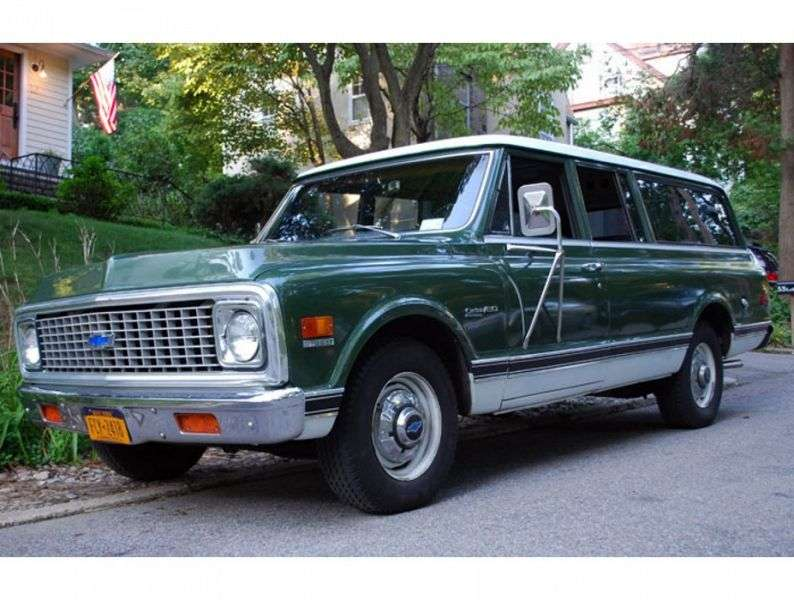 Chevrolet Suburban 7th generation [restyling] SUV 4.8 Turbo Hydra Matic 4WD (1971–1972)
