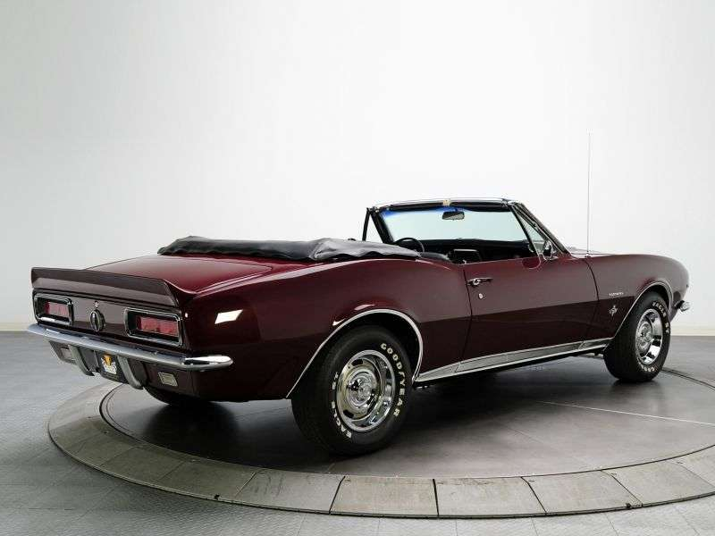 Chevrolet Camaro 1st generation RS / SS 2 door convertible. 5.7 Powerglide (1967–1967)