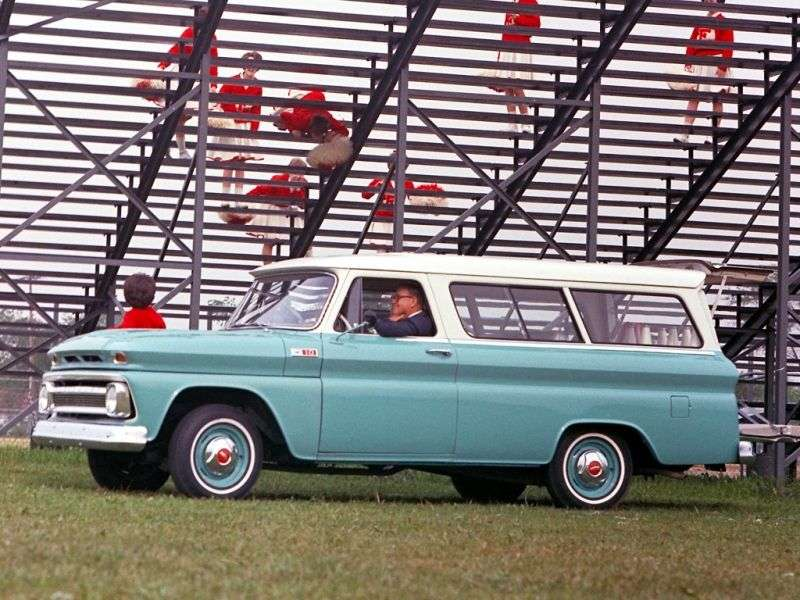 Chevrolet Suburban 6th generation [restyling] SUV 4.8 4MT Synchro mesh (1963–1966)