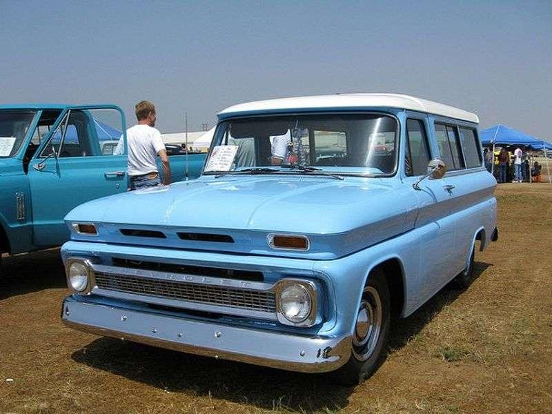 Chevrolet Suburban 6th generation [restyling] SUV 3.8 4MT Synchro mesh 4WD (1963–1966)