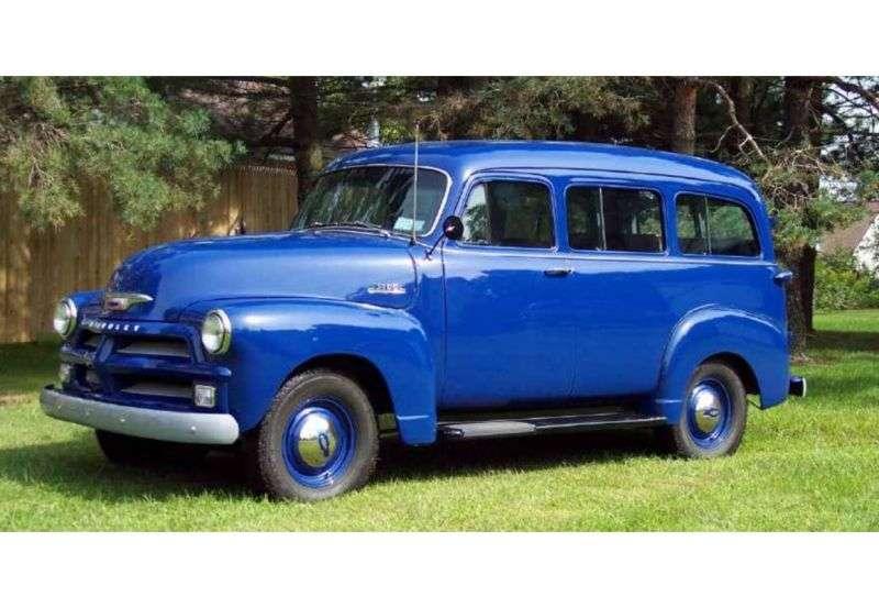 Chevrolet Suburban 4th generation [restyling] SUV 3.9 4MT Synchro mesh (1955–1955)