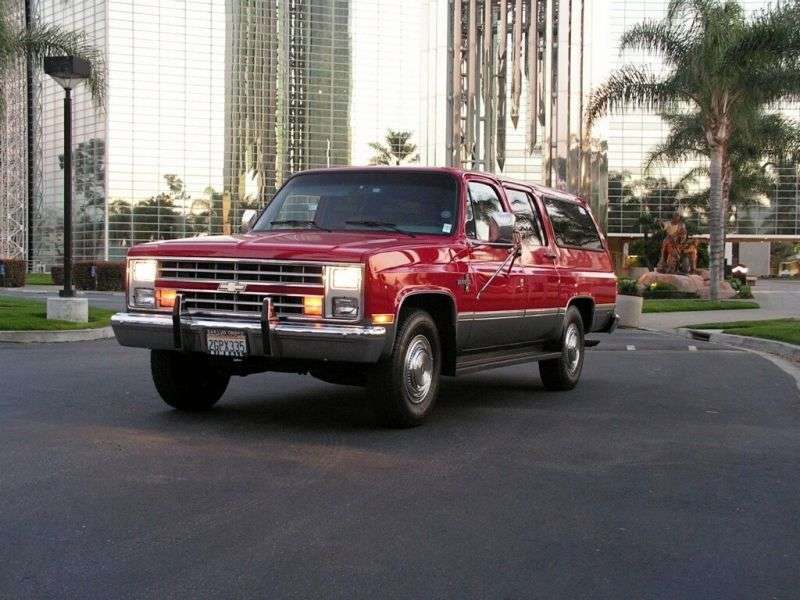 Chevrolet Suburban 8th generation [restyling] SUV 5.7 C20 3AT (1986–1986)
