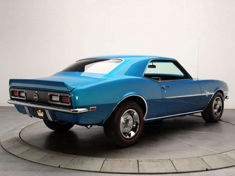 Chevrolet Camaro 1st generation [restyling] coupe 2 bit. 5.4 3MT (1968–1968)
