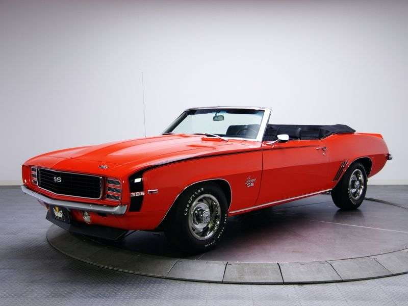 Chevrolet Camaro 1st generation [2nd restyling] RS convertible 2 dv. 6.5 4MT (1969–1969)