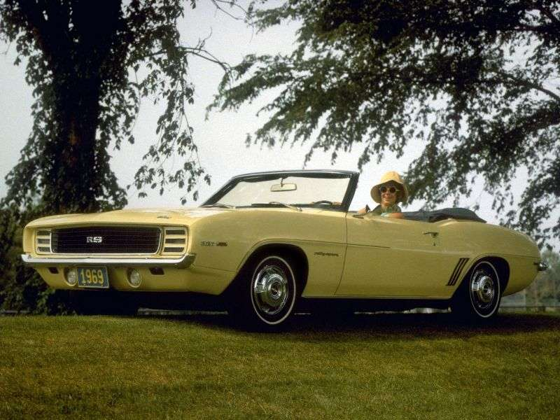 Chevrolet Camaro 1st generation [2nd restyling] RS convertible 2 dv. 6.5 Turbo Hydra Matic (1969–1969)