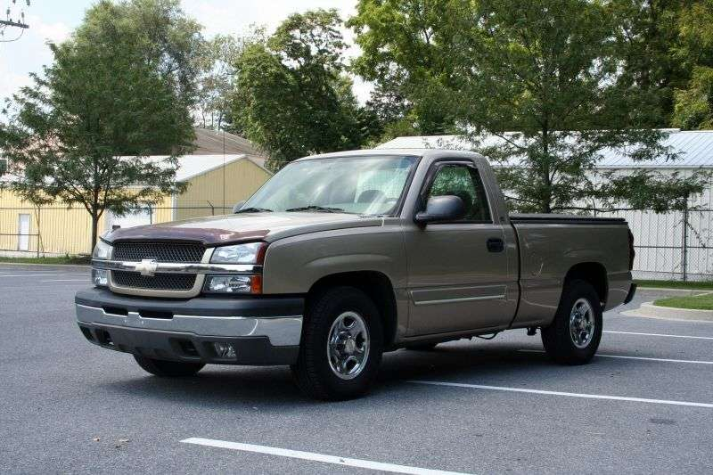 Chevrolet Silverado GMT800 [restyling] Regular Cab pick up 2 dv. 4.3 4AT 4WD 1500 Fleetside (2002–2004)