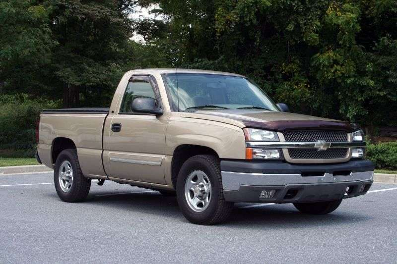 Chevrolet Silverado GMT800 [restyling] Regular Cab pick up 2 dv. 4.8 4AT 4WD 1500 Sportside (2002–2002)