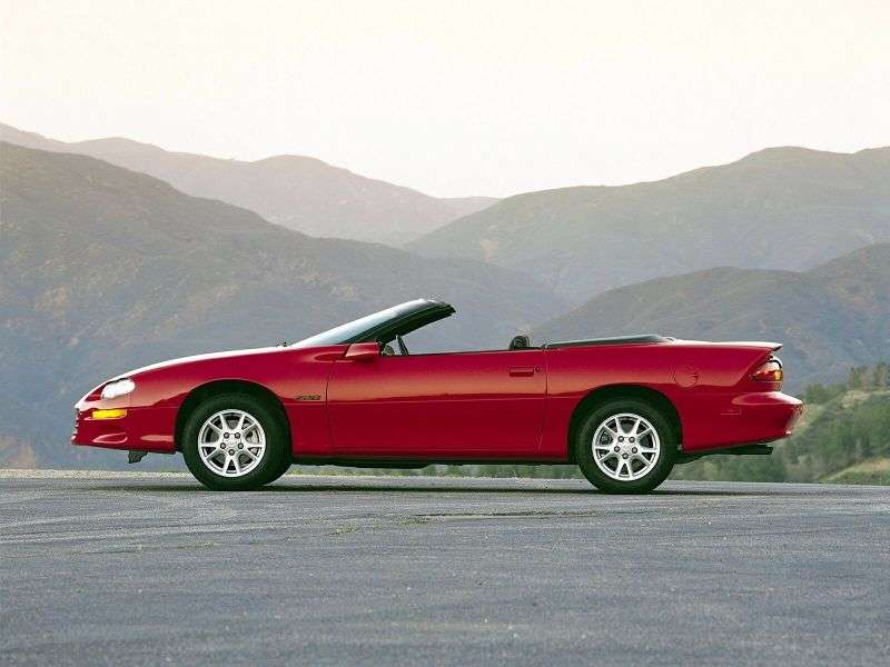 Chevrolet Camaro 4th generation [restyling] 5.7 AT convertible (2001–2002)