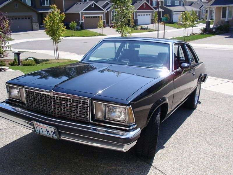 Chevrolet Malibu 1st generation [restyling] coupe 2 bit. 3.3 AT (1979–1979)