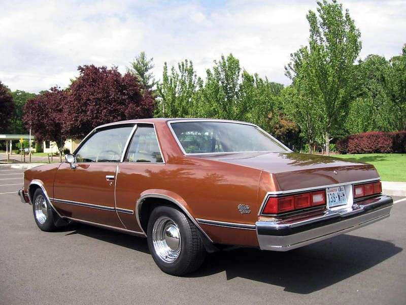 Chevrolet Malibu 1st generation coupe 2 bit. 5.0 MT (1978–1978)