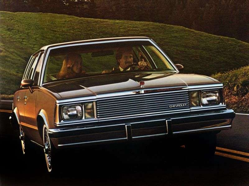 Chevrolet Malibu 1st generation [3rd restyling] Sport Sedan sedan 5.0 AT (1981–1981)