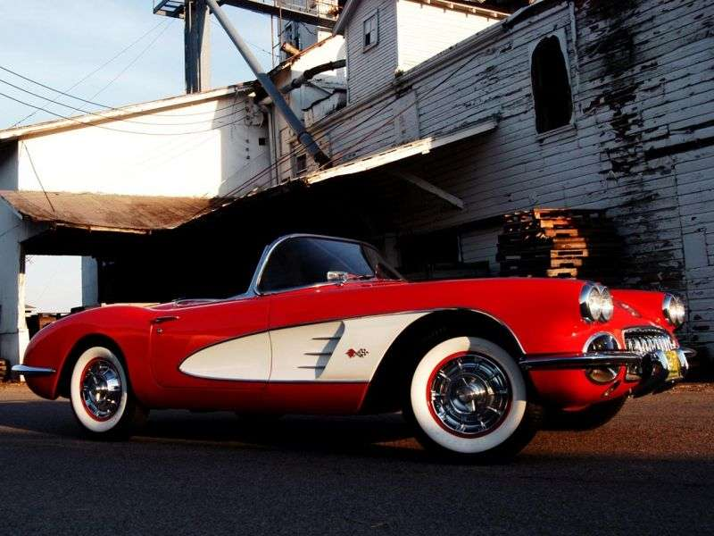 Chevrolet Corvette C1 [2nd restyling] roadster 4.6 Powerglide (1957 1958)
