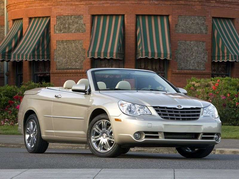 Chrysler Sebring 3rd generation 2.4 MT convertible (2007–2010)