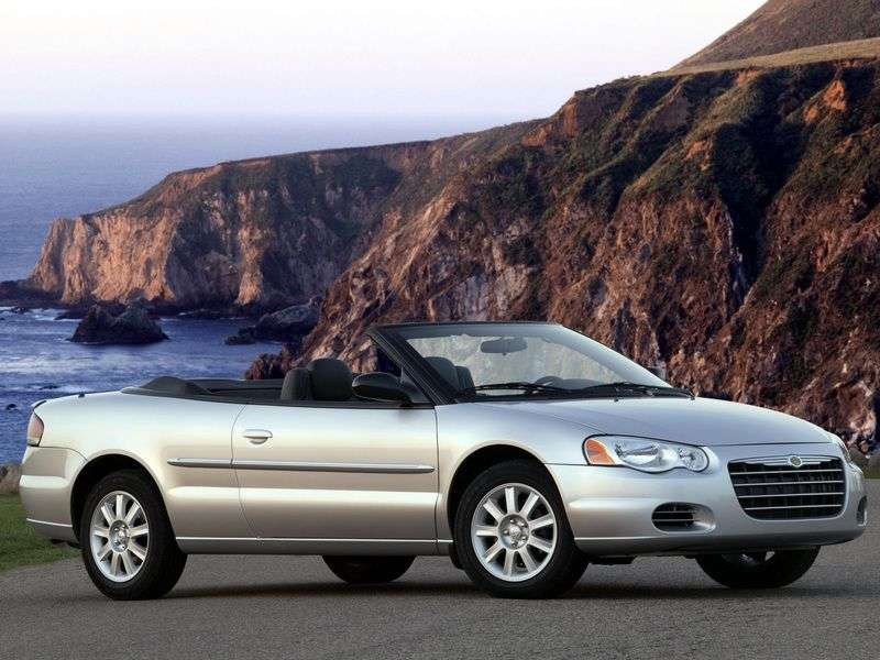 Chrysler Sebring 2nd generation 2.0 MT convertible (2001–2006)