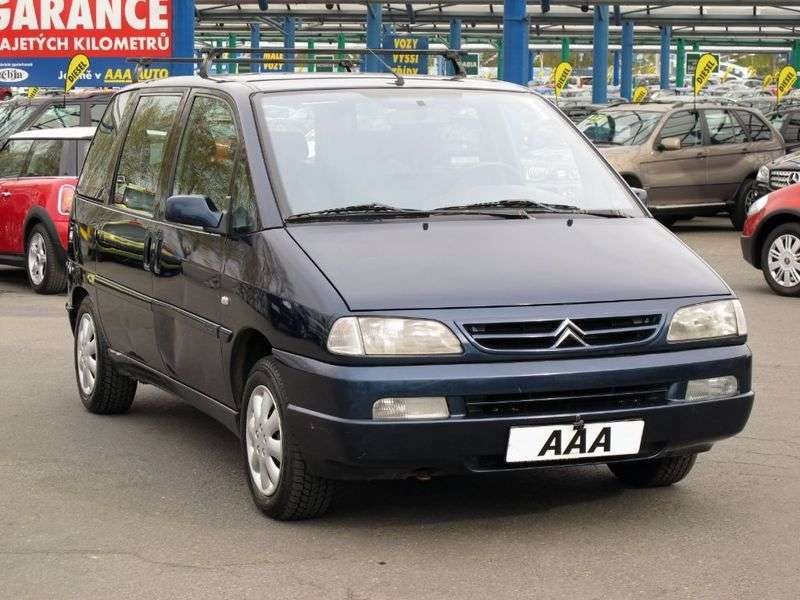 Citroen Evasion 1st generation [restyled] minivan 2.0 HDI AT (2000–2002)