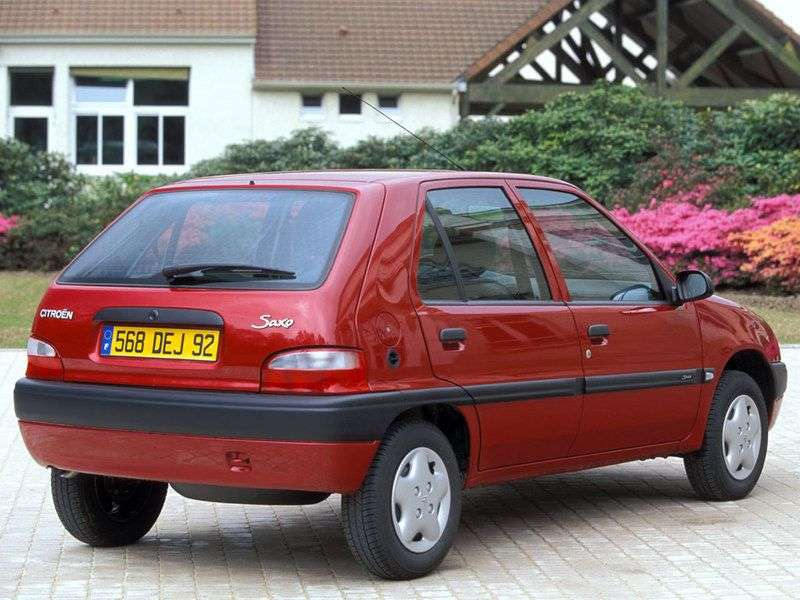 Citroen Saxo 2nd generation hatchback 5 dv. 1.0 MT (1996–1999)