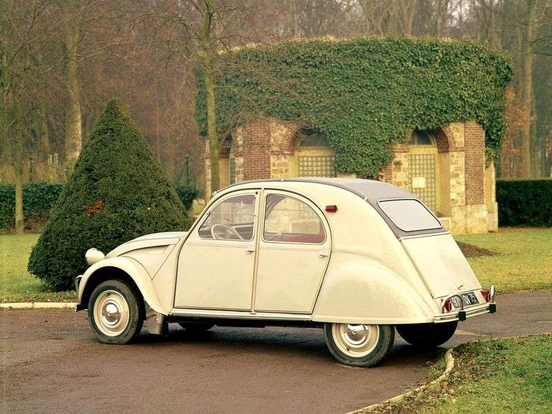 Citroen 2 CV 2 generation convertible 0.4 MT (1963–1966)