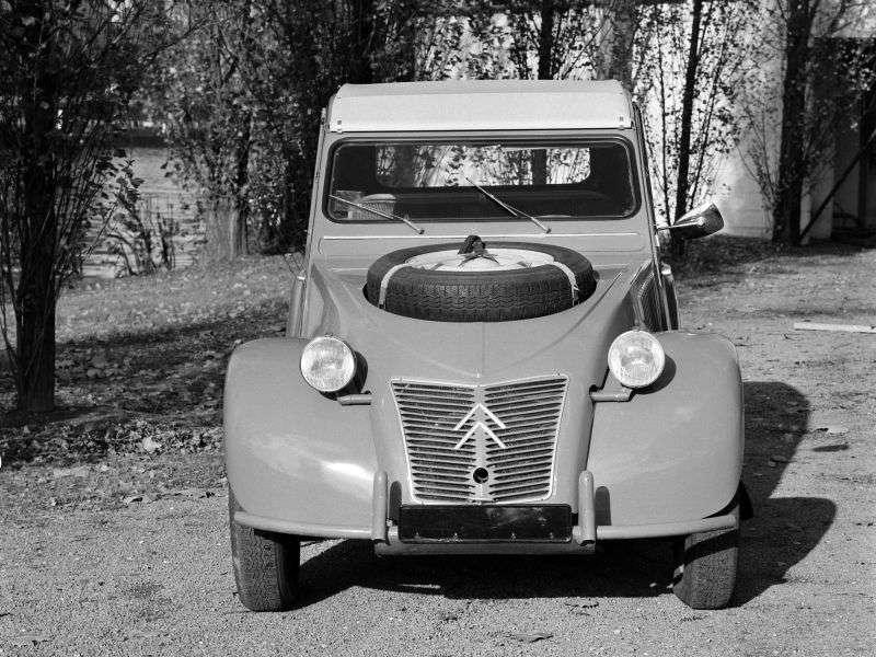 Citroen 2 CV Sahara [restyling] 0.9 MT convertible (1958–1961)