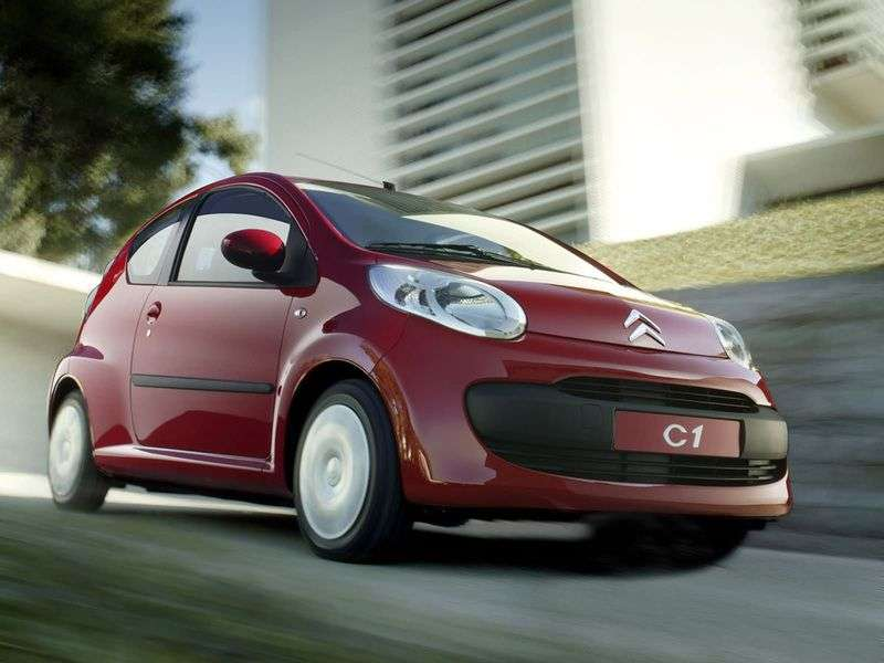 Citroen C1 1st generation hatchback 3 bit. 1.4 HDi AT (2005–2008)