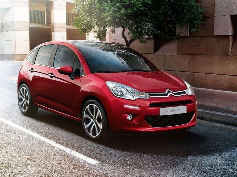 Citroen C3 2nd generation [restyling] hatchback 1.6 HDi 5MT (2012 – v.)