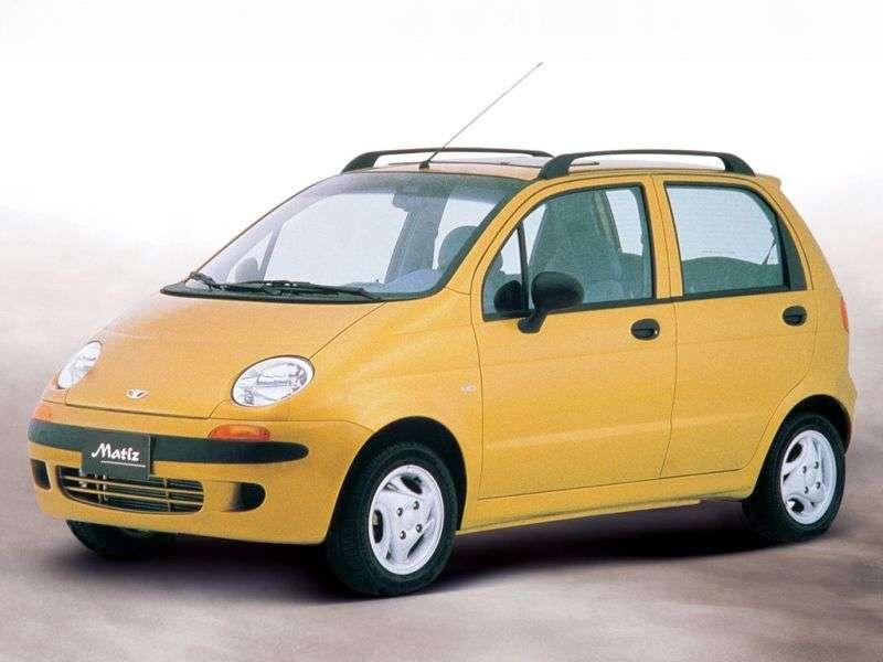 Daewoo Matiz 1st generation hatchback 0.8 MT DX (1998–2001)