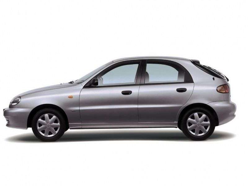 Daewoo Sens 1st generation 1.3 MT hatchback (2001–2008)
