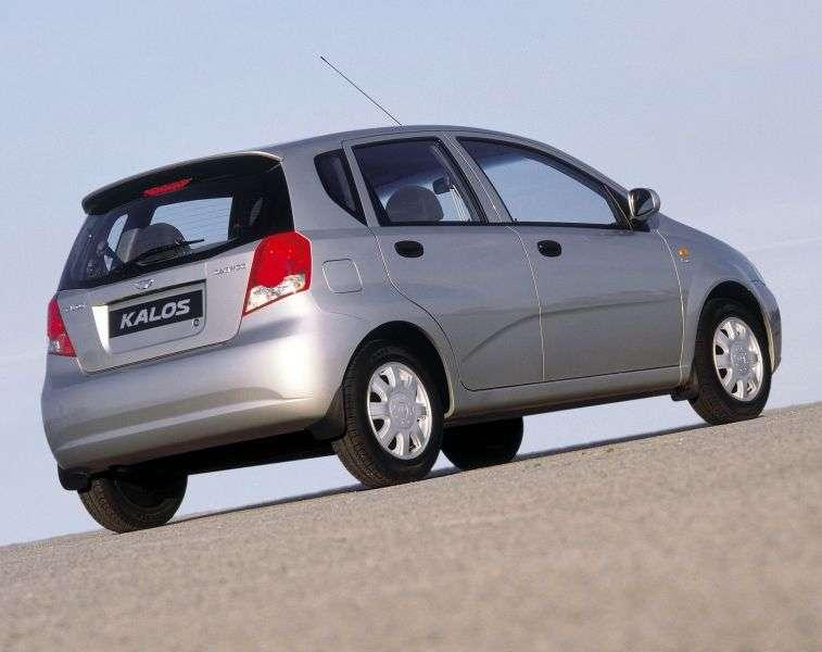 Daewoo Kalos 1st generation [restyling] hatchback 1.6 MT 16V (2004–2007)
