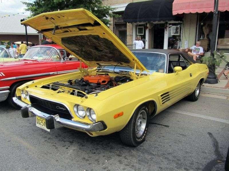 Dodge Challenger 1st generation [3rd restyling] Rallye hardtop 5.2 V8 3MT (1973–1973)