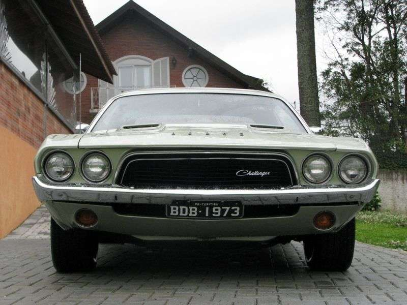 Dodge Challenger 1st generation [2nd restyling] hardtop 5.6 V8 4MT (1972–1972)