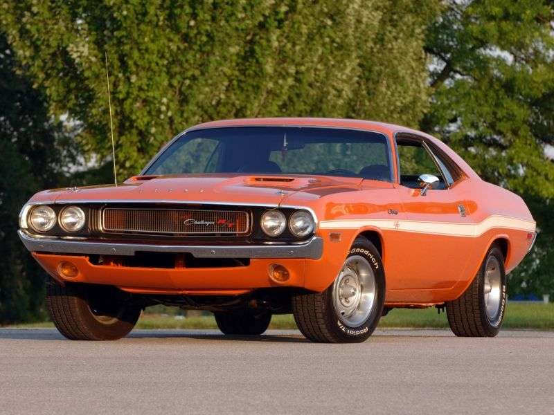 Dodge Challenger 1st generation R / T coupe 2 bit 6.3 4MT (1970–1970)
