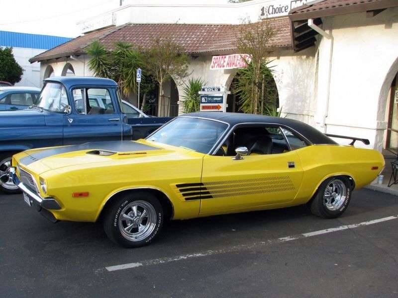 Dodge Challenger 1st generation [2nd restyling] Rallye hardtop 5.2 V8 3MT (1972–1972)