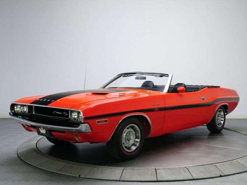 Dodge Challenger 1st Generation 6.3 V8 Convertible TorqueFlite (1970–1970)