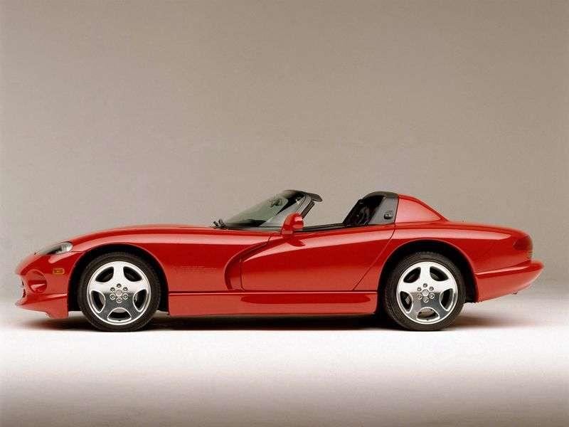Dodge Viper 2nd generation RT / 10 roadster 8.0 MT (1997–2002)