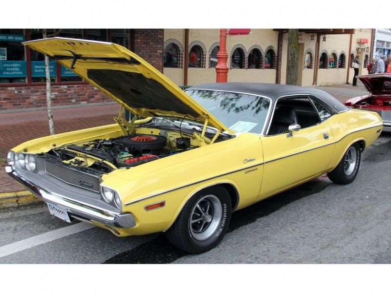 Dodge Challenger 1 generation coupe 2 bit. 5.6 3MT (1970–1970)