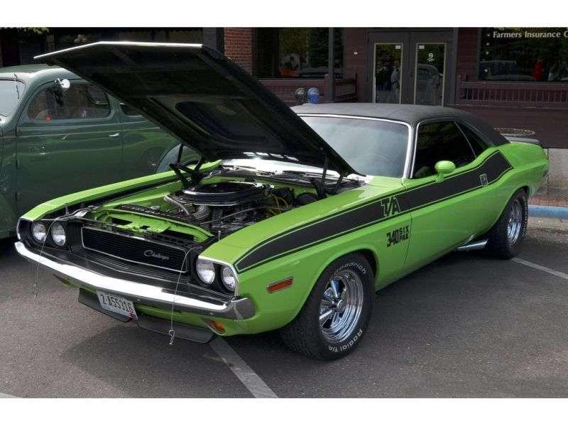 Dodge Challenger 1st generation T / A Coupe 7.0 V8 TorqueFlite (1970–1970)