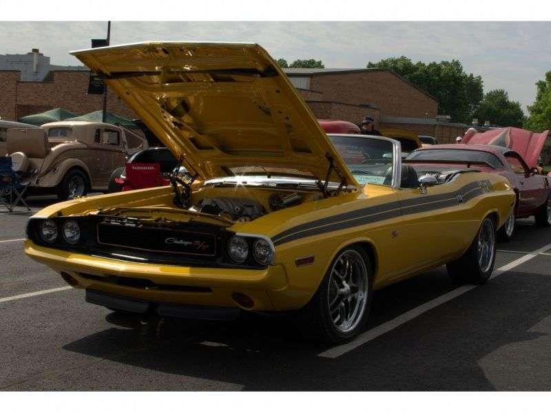 Dodge Challenger 1st generation convertible 6.3 V8 3MT (1970–1970)