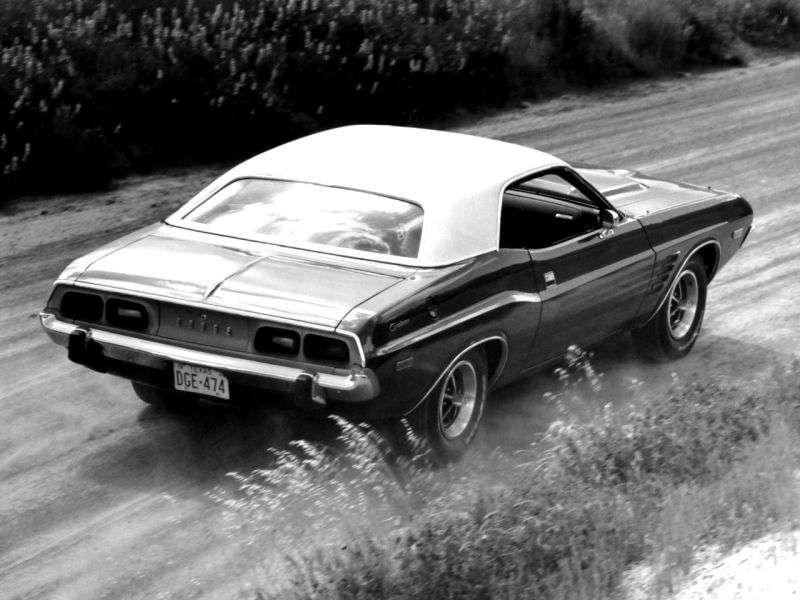 Dodge Challenger 1st generation [3rd restyling] Rallye hardtop 5.6 V8 3MT (1973–1973)