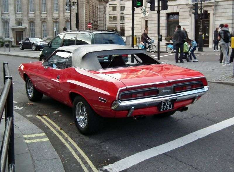 Dodge Challenger 1st generation [restyling] 5.2 V8 4MT convertible (1971–1971)