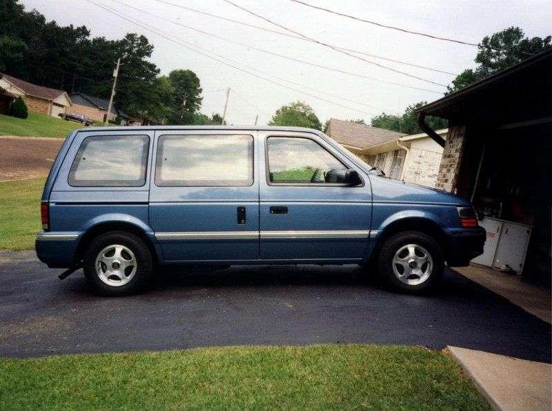 Dodge Caravan 2nd generation Grand 4 door minivan 3.0 AT (1990–1995)