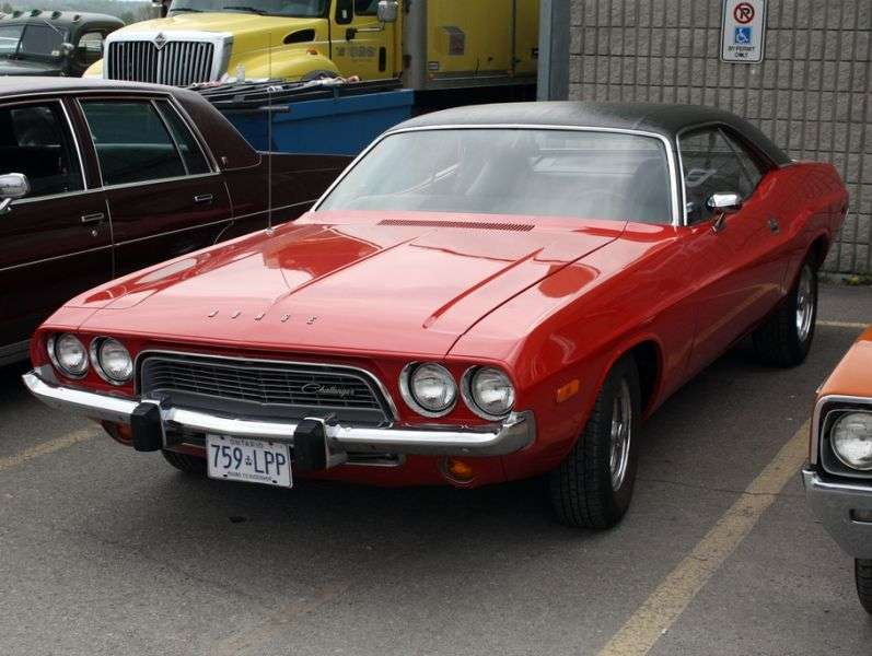 Dodge Challenger 1st generation [3rd restyling] hardtop 5.2 V8 TorqueFlite (1974–1974)