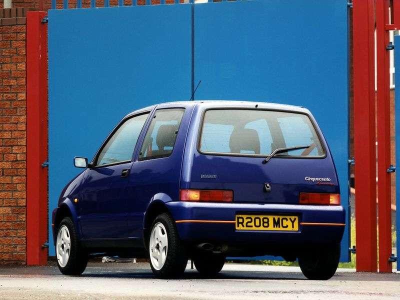 Fiat Cinquecento 1st generation hatchback 0.9 MT (1991–1998)