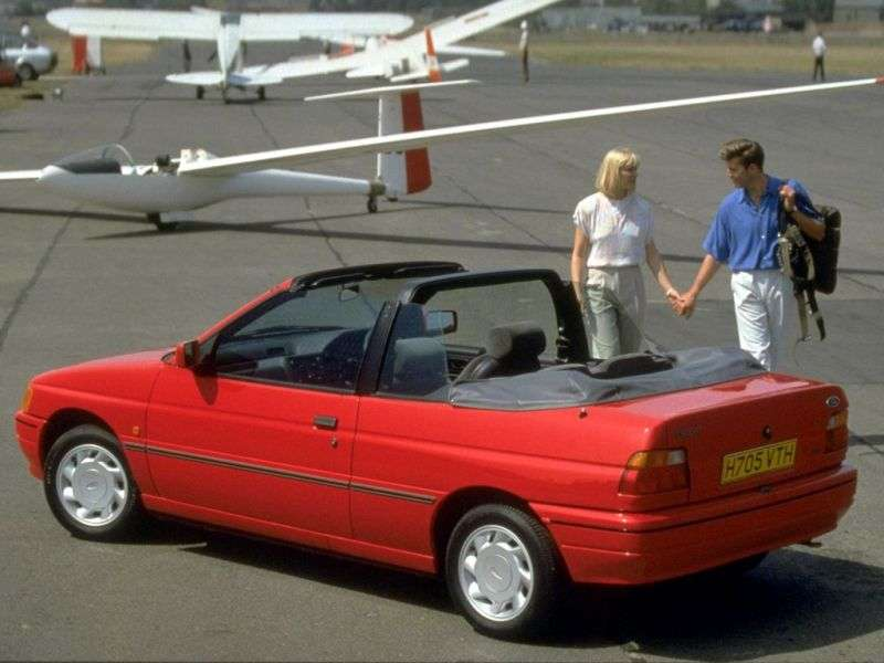 Ford Escort 5 MT Convertible 1.8 MT (1990–1992)
