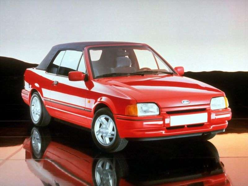 Ford Escort 4th generation convertible 1.6 MT XR3i (1989–1990)